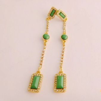 Tassled candy color Long earrings European and American earrings