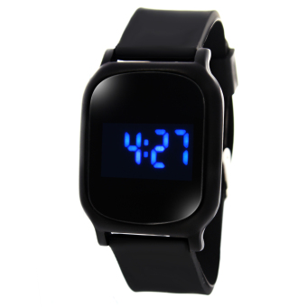 TECH GEAR WOW Deo Square Touch LED Unisex Black Silicone StrapWatch Price Philippines