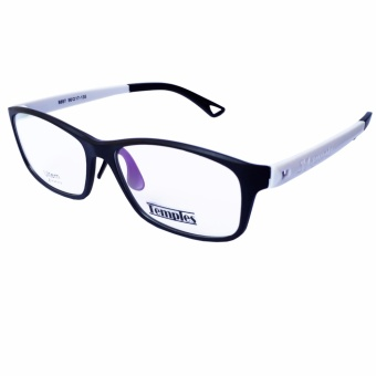 Temples Rx Basic unisex Frames 8897 C37 Black/White Price Philippines