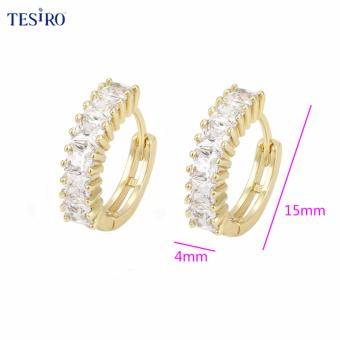 TESIRO Jewelry Crystals from Swarovski Stud Earrings(ROSE gold)