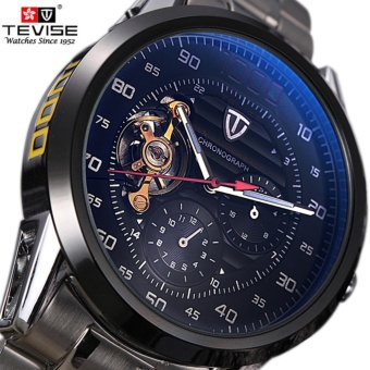 Tevise Brand Fashion Luxury Men's Mechanica Watches Automatic Skeleton Watch Clock Male Business Waterproof Relogio Masculino F8378-002 - intl