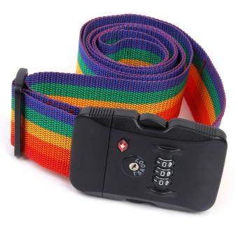 The3-Dial TSA Combination Lock Key Luggage Strap Belt (Multicolor) - picture 2