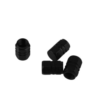 Theftproof Aluminum Car Wheel Tires Valves Tyre Stem Air CapsAirtight Cove Black - intl