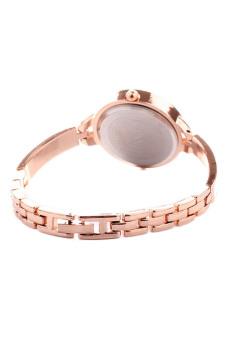 Thin Band Dress Watches Bracelet Rhinestone Wrist Watch (Gold) - picture 2