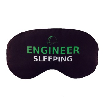 Tickles Engineer Sleeping Eye Mask (Black)