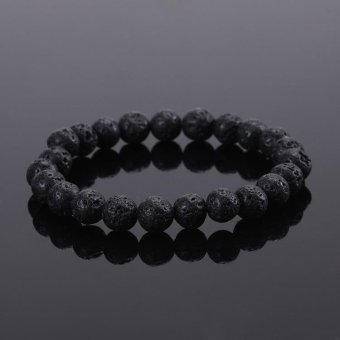 Tiger Eye Bracelets Bangles Elastic Rope Chain Natural StoneFriendship Bracelets for Women and Men Jewelry - intl