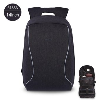 Tigernu Anti-thief Design Laptop Backpack For 12-14inchesLaptop3188A(black grey) - intl