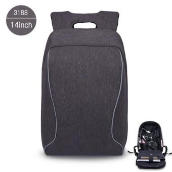 Tigernu Brand Fashion Business Casual Anti-Theft Backpack 14 Inches Laptop BagsT-B3188 (Dark grey)