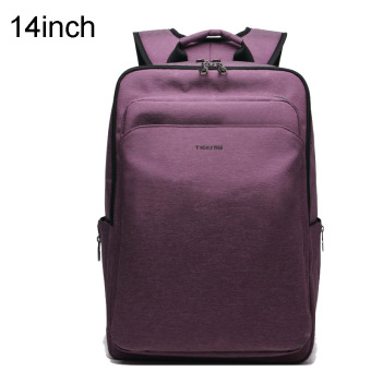 Tigernu Waterproof Four-tooth Anti-theft Business Daily Bag 14Inches Laptop Backpack For 12.1-14Inches Laptop(Purple)
