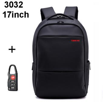 Tigernu Waterproof Large Capacity Laptop Backpack for 12-17inch Laptop Size L(black)
