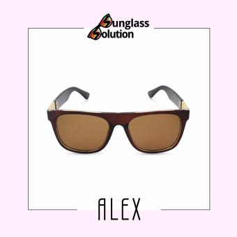 Timeless Manila Alex 5658 Wayfarer Sunglasses Shades (Brown)
