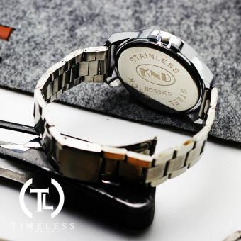 Timeless Manila Ashton K1056 Chrono Steel Watch (White) - 3