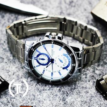 Timeless Manila Ashton K1056 Chrono Steel Watch (White) - 2