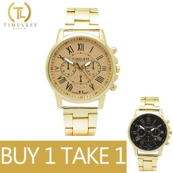 Timeless Manila Candice Roman Numeral Chrono Metal Watch Buy 1 Take 1 (Beige/Black)