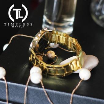 Timeless Manila Candice Roman Numeral Chrono Metal Watch Buy 1 Take 1 (Cyan) - 5