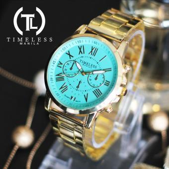 Timeless Manila Candice Roman Numeral Chrono Metal Watch Buy 1 Take 1 (Cyan) - 2