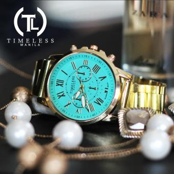 Timeless Manila Candice Roman Numeral Chrono Metal Watch Buy 1 Take 1 (Cyan) - 3
