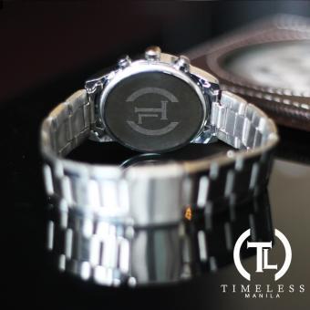 Timeless Manila Charlotte Chrono Crystal Watch (Silver) with free Slim LED (Navy Blue) - 4