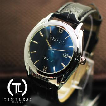 Timeless Manila David Datejust Synthetic Leather Watch (Blue/Black) Price Philippines