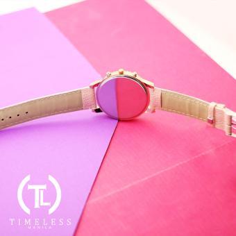 Timeless Manila Jennifer Chrono Leather Watch (Old Rose) - 4