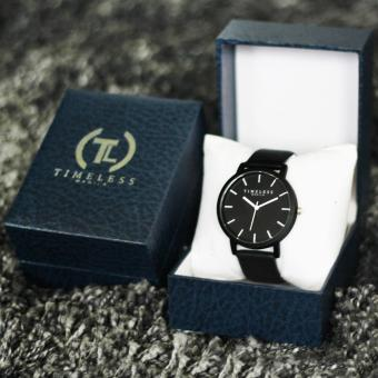Timeless Manila Jules Linear Leather Watch (Black) with Free Timeless Manila Watch Box Price Philippines