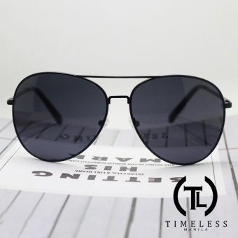 Timeless Manila Magnus 3304 Aviator Classic Sunglasses Shades (Black)