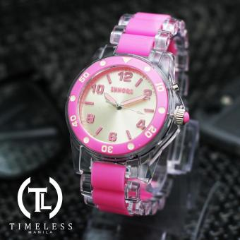 Timeless Manila Vibrant Shhors Casual Analog Wrist Watch (Pink Clear)