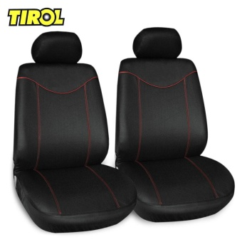 TIROL 6pcs Universal Car Seat Covers Washable Flat Cloth Fabric Interior Protector - intl