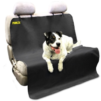 Tirol New Pet/Cat/Dog Seat Cover Waterproof Mat Car Back Seat Cover Bench Protector with Belts - intl