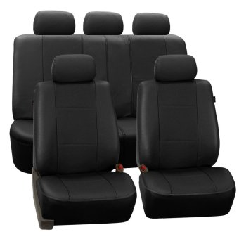 Tirol New Universal Car Seat Covers PU Leather 11PCS/Set Front Rear Cover Set for Crossovers SUV Sedans - intl