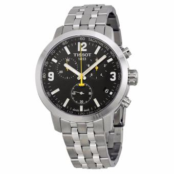 Tissot PRC 200 Chronograph Black Dial Stainless Steel Men's Watch