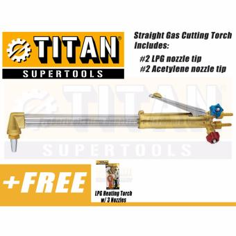 Titan Supertools TST-SCGT2 Straight Gas Cutting Torch (Silver)