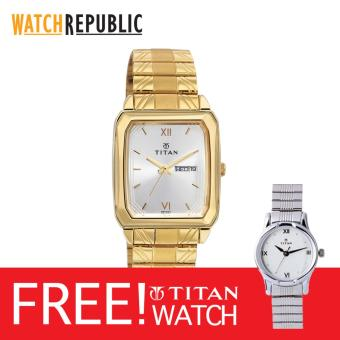 Titan Watch Orion Men'S Gold Stainless Steel Strap Watch Ttn1581Ym01