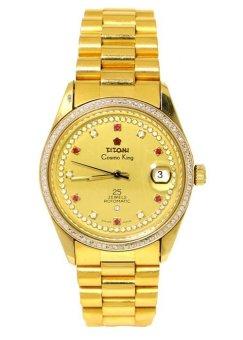 TITONI Men's Gold Metal Strap Watch 707DB-SC - 1119976