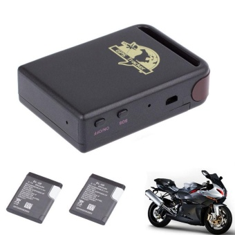 TK102 GPS/GSM/GPRS Tracker Car Vehicle Mini Tracking Device + 2 Battery - intl