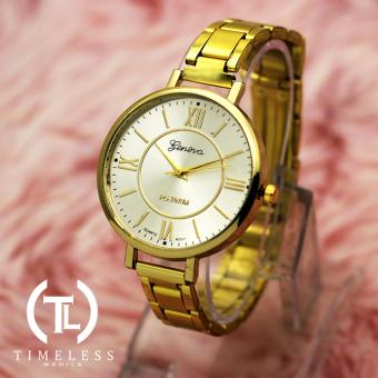 TM Geneva Lady Olivia Roman Numeral Fancy Ultra Slim Watch (Gold) Price Philippines