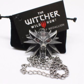 Top quality The Witcher 3 Pendant Collier Medallion Wizard WolfWild Hunt 3 Necklace - intl Price Philippines