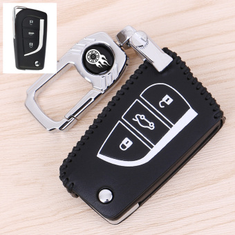 TOYOTA Corolla RAV4 blue leather car key cases