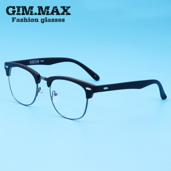 Tr90 green near-sighted half frame computer plain mirror radiation glasses