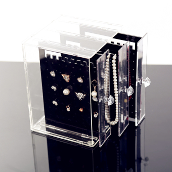 Transparent acrylic earrings jewelry rack box
