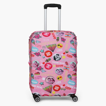 Travel Basic Team Real Large Luggage Cove (Pink Pins)