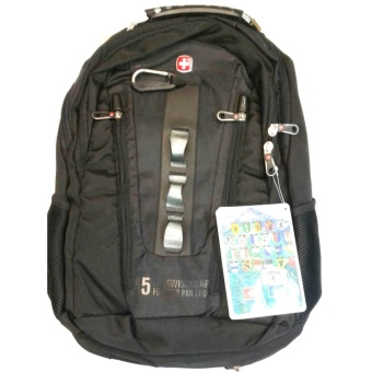 Travel Business Outdoor Backpack Laptop 15inches #7211 (BLACK)