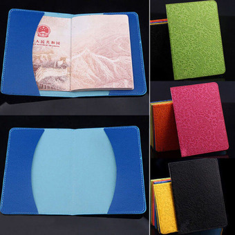 Travel Leather Passport Organizer Holder Ticket Card ProtectorCover Wallet Rose - 4