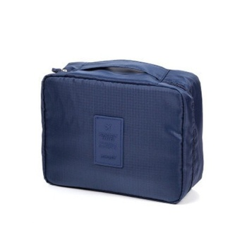Travel Makeup Cosmetics Toiletries bags Multi Pouch (Navy Blue)with Free Travel Mate Toiletry Kit Organizer (Color may vary)