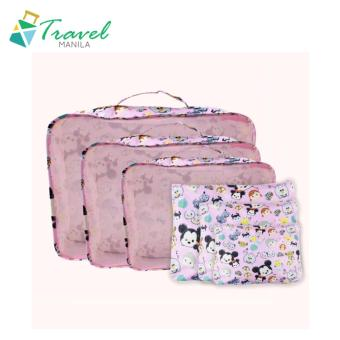 Travel Manila 6 in 1 Packing Pouch Bag tsumtsum ( Pink )