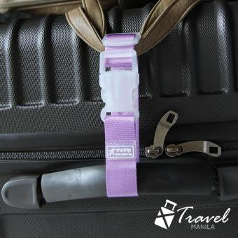 Travel Manila Adjustable Travel Luggage Strap (Purple)