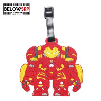 Travel Manila Character Luggage Bag Tag with Name, ID, AddressLabel (Hulk Buster)