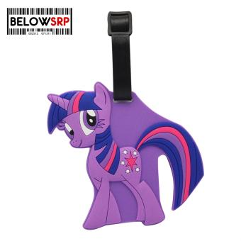 Travel Manila Character Luggage Bag Tag with Name, ID, AddressLabel (Little Pony - Violet)