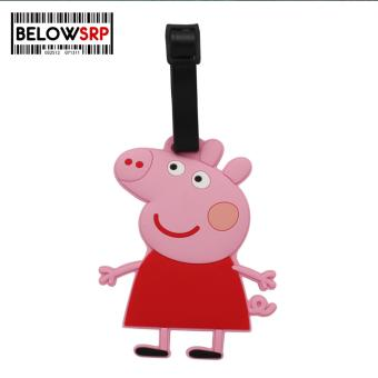 Travel Manila Character Luggage Bag Tag with Name, ID, AddressLabel (Peppa Pig)