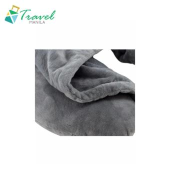 Travel Manila Neck Pillow With Hood (Grey) - New - 2